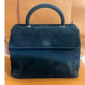Vintage Prada Top Handle Suede Bag